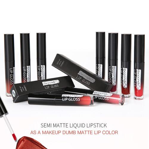 12 Color Semi Matte Lip Liner + Liquid Lip Gloss Kit - Long Lasting Waterproof 3