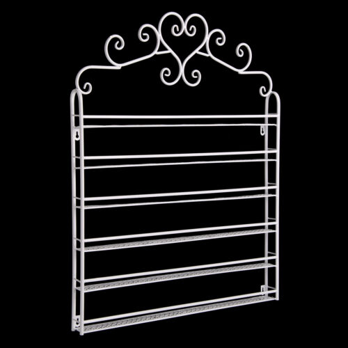 6 Tier Metal Wall Mounted Nail Polish Rack Organizer Display Holder Shelf UK