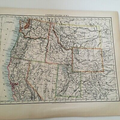 1897 Map Of United States, N.w. And Central Areas 5