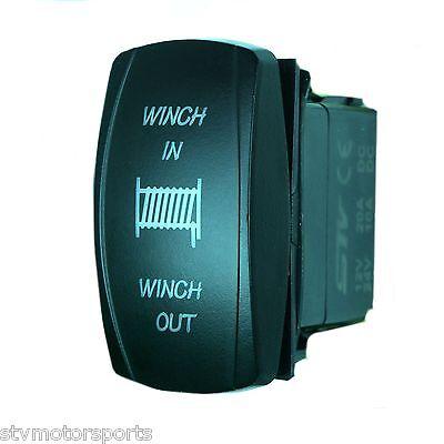 RED LED MOMENTARY WINCH POWER IN//OUT ROCKER SWITCH 4WD 4X4 UTV WATERPROOF