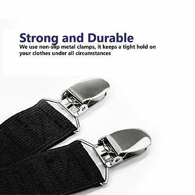 1 Pair of Y Style Shirt Stay Mens Garter Suspenders Military Uniform Holder Sock 4