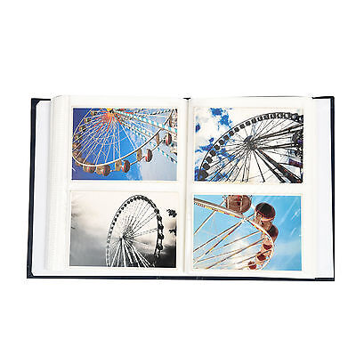 "6.99Traditional 6"" X 4""  Photo Album with 200 Pockets Black, Blue or Burgundy 6"