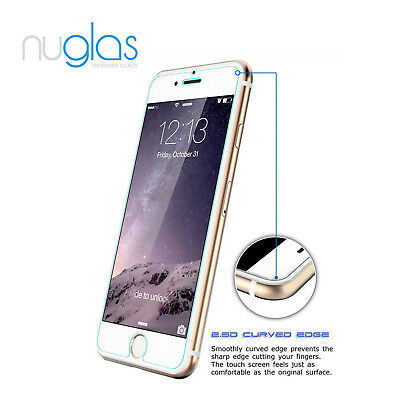 2x NUGLAS Tempered Glass Screen Protector for Apple iPhone X 8 7 6 5 Plus XS Max 3