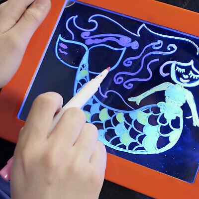 3D Magic Pad Light Up Drawing Pad with Neon Pens Creative Glow Art Light Effect 7