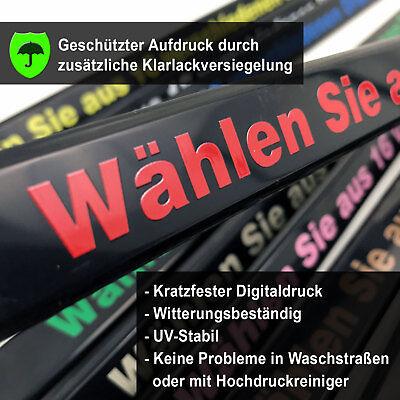 2x Kennzeichenhalter bedruckt mit eigener Wunschbeschriftung, Text oder Logo 9