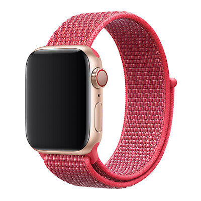 Nylon Woven Sport Loop Band Strap For Apple Watch iWatch Series 4/3/2/1 38/42mm 9