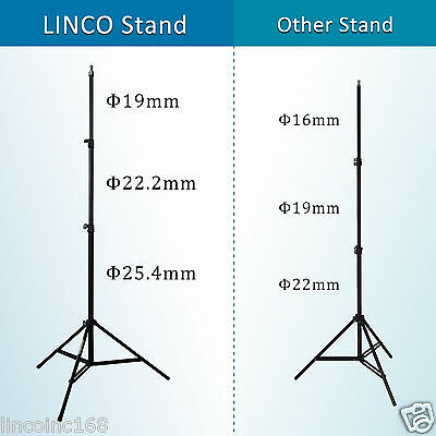 Black/White Backdrop Support Stand Photography Studio Video Softbox Lighting Kit 3
