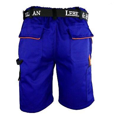 Arbeitshose Kurze Hose Kurz Bermuda Shorts Blau Gr. S - XXXL Neu