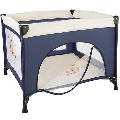 Parque para bebé cuna infantil de viaje portátil altura ajustable azul nuevo 3