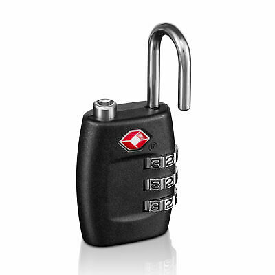 4x TSA Approved Luggage Lock Travel 3 Digit Combination Suitcase Padlock Reset 3