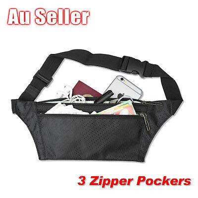 Waterproof Running Hiking Sport Bum Bag Travel Money Phone Waist Belt Zip Pouch 2