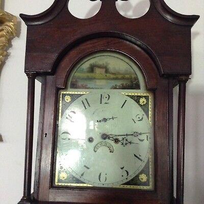 Antique Oak Grandfather Clock 4