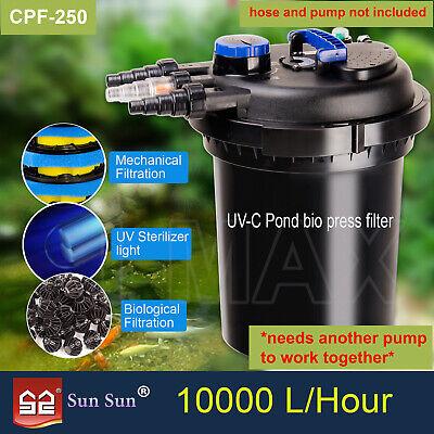 Aquarium External Filter Canister Fish Tank Water Pump Sponge Media Kit UV Light 8