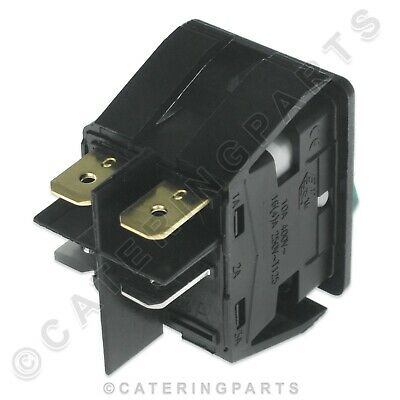 Genuine Moffat Rocker Switch 1003A 230V On Off Illuminated Green Hot Cupboard 2