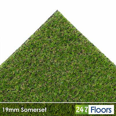 Somerset 19mm Artificial Grass Quality Astro Turf Cheap Realistic Natural 2m 4m 6