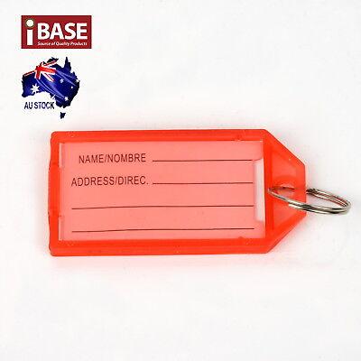 10x Key Ring Indicate Luggage Tag ID Label Travel Suitcase Identity Name Card 4