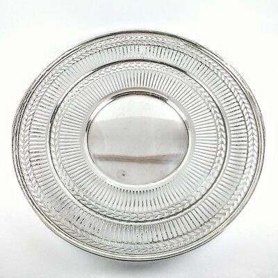 "Antique RARE Sterling Silver Watson Co. Wilcox & Wagoner Pierced 8"" Round Plate 2"