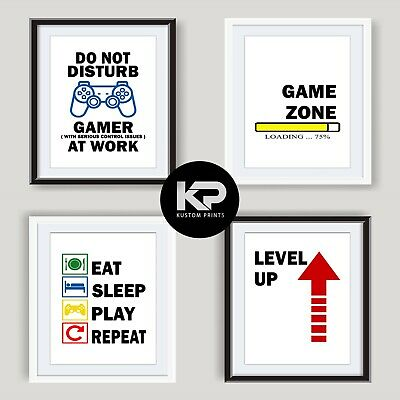 Gaming Prints Games Room Wall Art Poster Xbox PS4 Boy Bedroom Decor Gamer Gifts 2