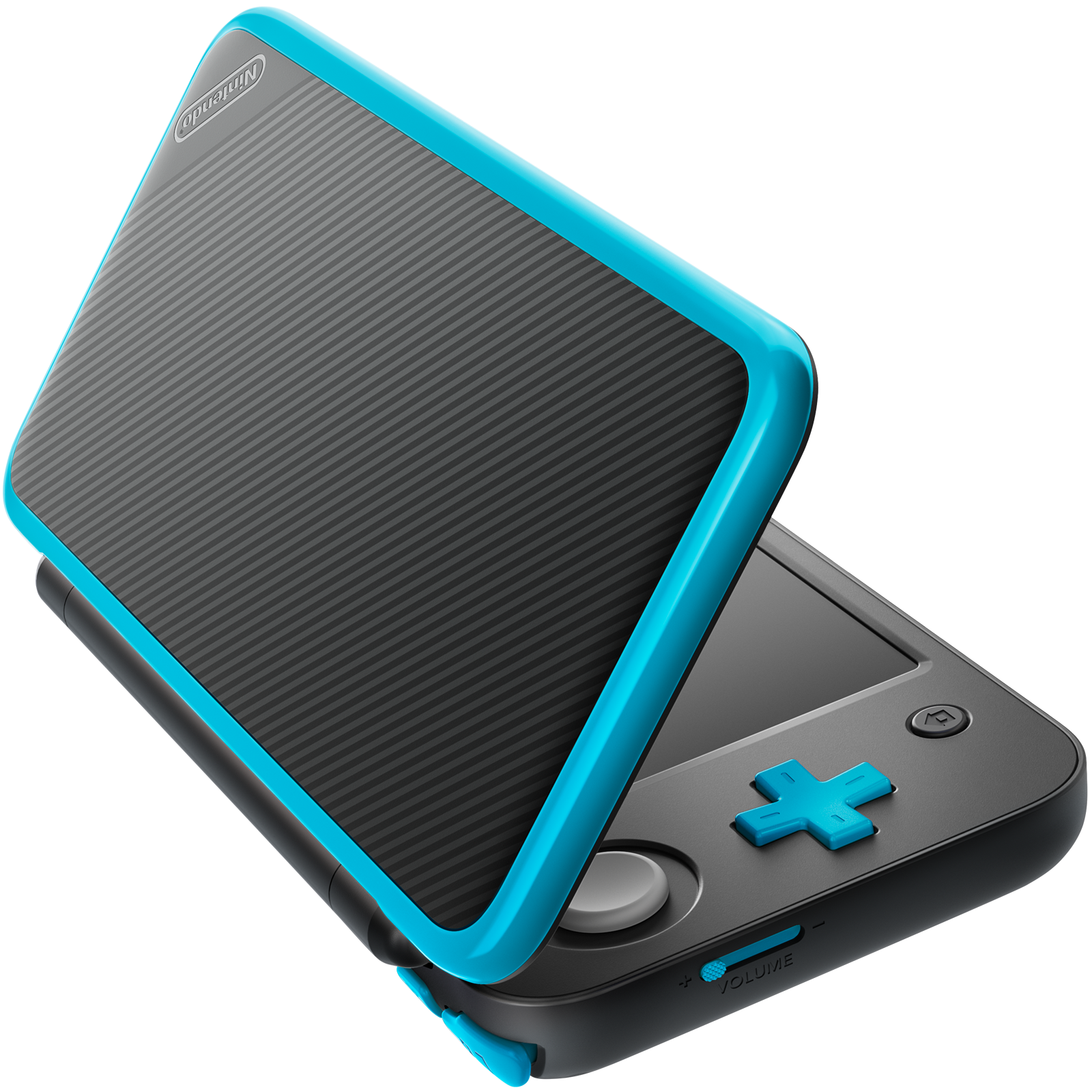 New Nintendo 2DS XL (Black + Turquoise) with its original stylus pen 2
