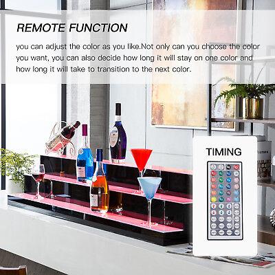 "60"" 3 LED Liquor Bottle Display Shelf Wine Rack Bar Supply Stand Wireless Remote 5"