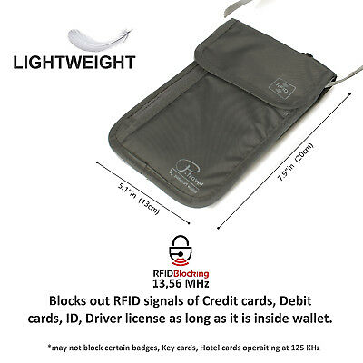 Travel Wallet & Family Passport Holder w/RFID Blocking- Document Organizer Case 5