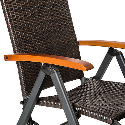 3 Von 7 Relaxsessel Poly Rattan Aluminium Gartenstuhl Mit Fußstütze  Liegestuhl B Ware