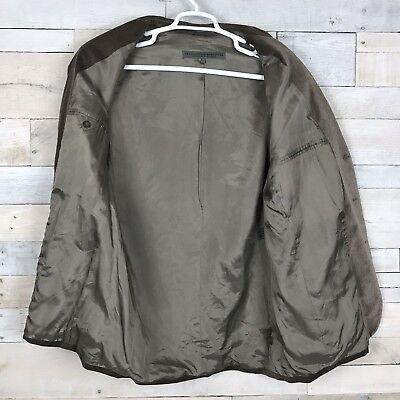 Le Collezioni Structure Brown Velvet 3 Button Suit Jacket Sport Coat Men's Large 5