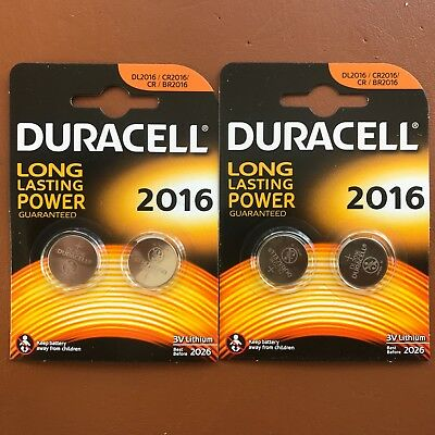 2 x Duracell CR2016 3V Lithium Coin Cell Battery 2016 DL2016 BR2016 SB-T11 3