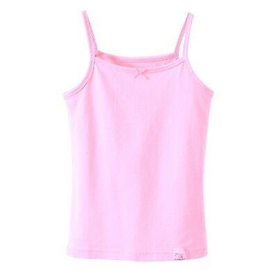 Kids Girls Sleeveless Short Crops, Camisoles 3 Vests Pack 100% Cotton 3 to 10YRS 9