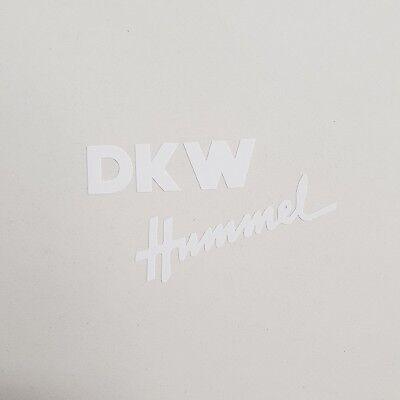 Aufkleber Set DKW Hummel * 101 / 112 / 113 * weiß 2