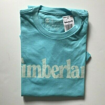 NWT Timberland Men's Faded Linear Logo Short Sleeve Crew Neck T Shirt A11GY NEW 10