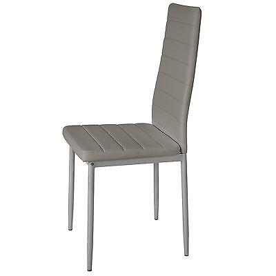 4x Chaise de salle à manger ensemble salon design chaises cuisine neuf gris 4