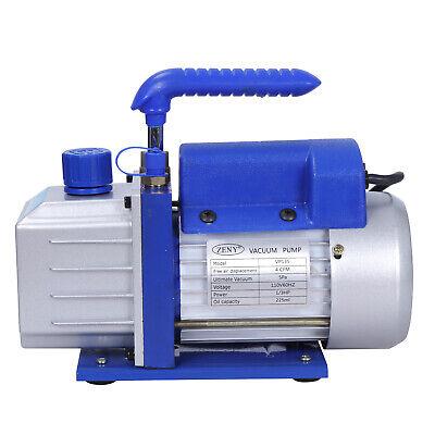 Rotary Vane Deep Vacuum Pump 1Stage 4 CFM 1/3HP HVAC AC Air Refrigerant Tool 2