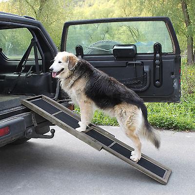 Rampe télescopique pour chien aide montée escalier Animaux Voiture en Bois Neuf 3