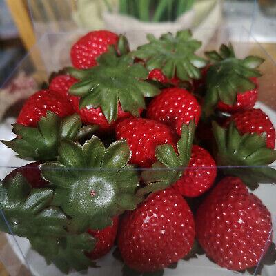 24 x Deko Erdbeeren Früchte Sortiert Attrappen Dekoration Kunstobst Dekofrüchte 6
