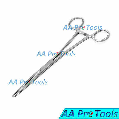 """2Pc Set 8"""" Straight + Curved Hemostat Forceps Locking Clamps Surgical Instrument 2"""