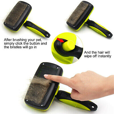 Self Cleaning Pet Dog Cat Slicker Brush Grooming For Medium And Long Hair Pets 2