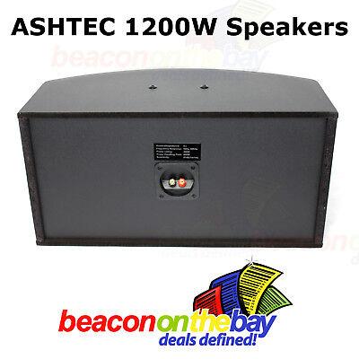 ASHTEC 1200w Bluetooth Mixer Amplifier Speakers Cordless Microphone Karaoke DJ 7
