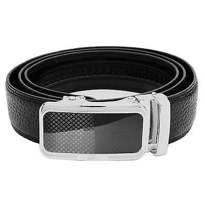 Falari® Men's Genuine Leather Dress Ratchet Belt 35mm Adjustable Size 7011 2