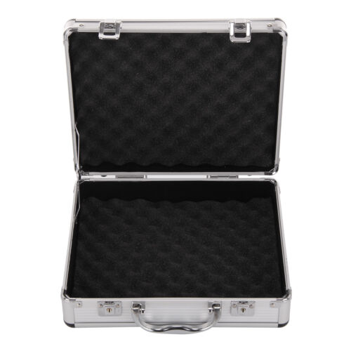 Aluminium Pistol Gun Case Storage Lockable Flight Case Foam Tool Box Secured UK 6