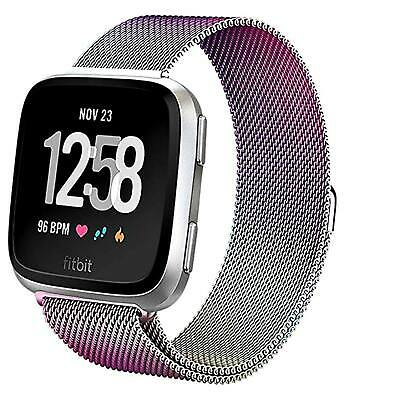 For Fitbit Versa Milanese Watch Band Strap Wrist Magnetic Stainless Steel Loop 5