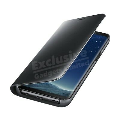 For Samsung Galaxy S7 S8 S9 Plus Smart View Mirror Leather Flip Stand Case Cover 7