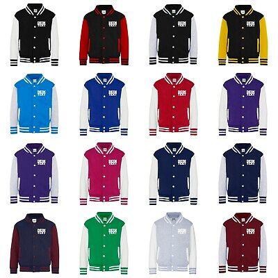 Kinder College Jacke mit Wunschdruck viele Farben Partnerlook Jacken JH043K0.5 6