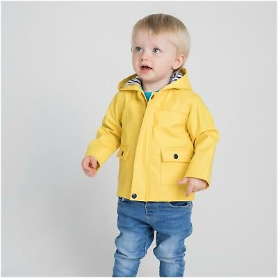 PVC Rain Coat Hooded Baby Toddler Boys Girls Kids Childrens 6 Months 4 Years