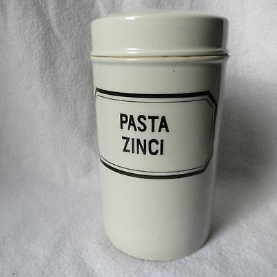 altes Apotheker Porzellangefäss Kruke Standgefäss Pasta Zinci 1kg 19x11cm Top 8