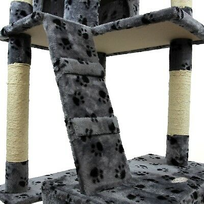 Cat Tree Activity Centre Scratcher Scratching Post Kitten Play Toy Scratch Bed 10