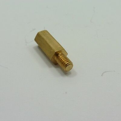 Male-Female M4 Thread Pillar Hexagonal Brass Spacer  PCB Studs Standoff Hex 2