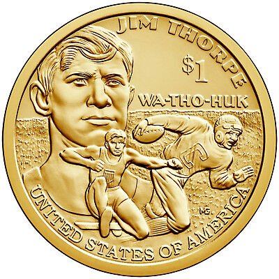 2018 P Native American Sacagawea Position A Business Strike from US Mint Roll 2