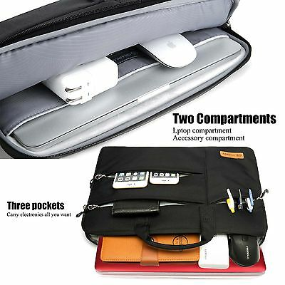 Shockproof 13 14 15.6'' Laptop Sleeve w/4 zipper Pocket&Handle Notebook Bag Case 3