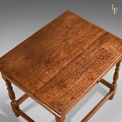Antique Occasional Table, Victorian, Oak, English, Country, Hall, Side, c.1850 4